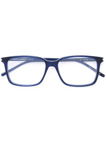Saint Laurent - Square Frame Optical Glasses - Unisex - Acetate - One Size, Blue, Acetate