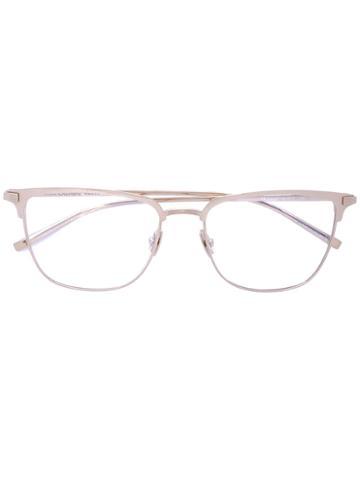 Saint Laurent - D-ring Frame Glasses - Unisex - Titanium - One Size, Grey, Titanium