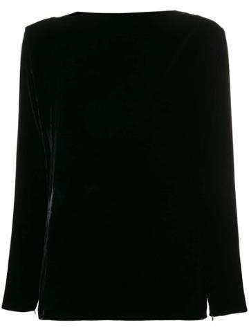 Yves Saint Laurent Vintage 1960 Slash Neck Top - Black