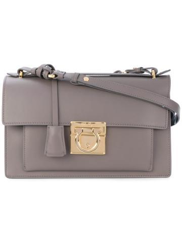 Salvatore Ferragamo - Aileen Shoulder Bag - Women - Calf Leather - One Size, Grey, Calf Leather