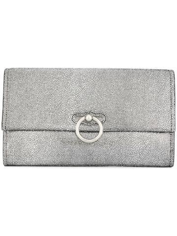 Rebecca Minkoff Textured Clutch Bag - Silver