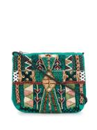 Antik Batik Mauri Crossbody Bag - Green