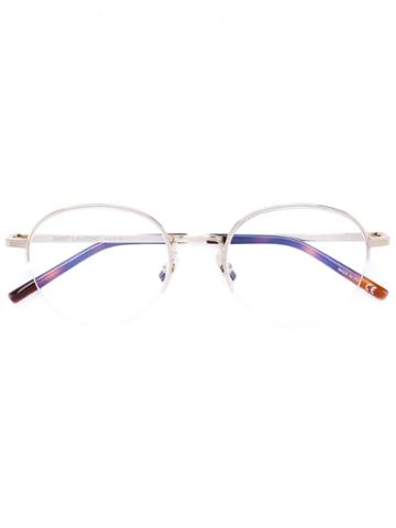 Saint Laurent - Round Frame Glasses - Unisex - Metal (other) - One Size, Grey, Metal (other)
