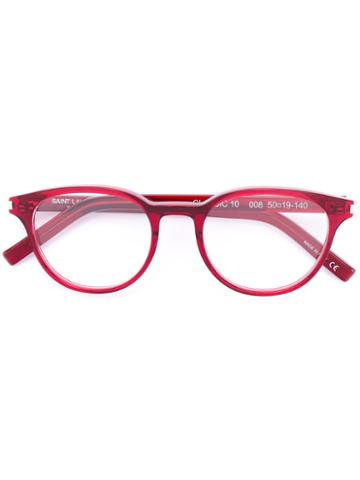 Saint Laurent - 'classic 10' Glasses - Unisex - Acetate - 50, Red, Acetate