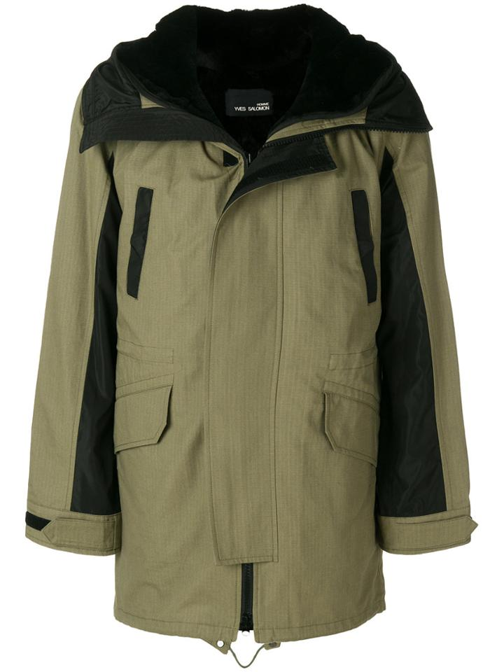 Yves Salomon Homme Long Hooded Parka - Green