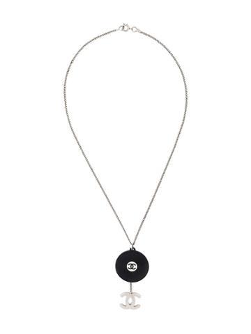 Chanel Vintage Logos Short Necklace - Black