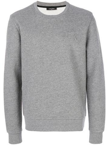 Calvin Klein - Logo Embossed Sweatshirt - Men - Polyester/cotton - M, Grey, Polyester/cotton