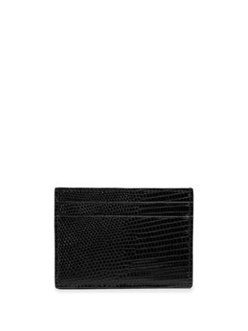 Gucci Lizard Card Case - Black
