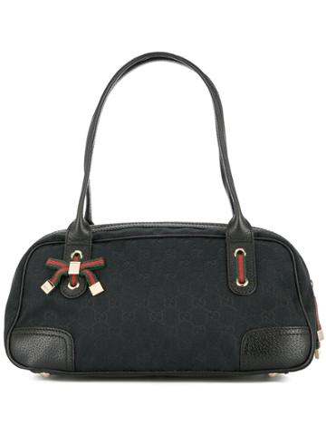 Gucci Vintage Gucci Gg Shelly Line Hand Tote Bag - Black