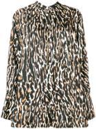 Calvin Klein 205w39nyc Leopard Print Blouse - Black