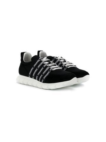 Dsquared2 Kids Teen Lo-top Running Sneakers - Black