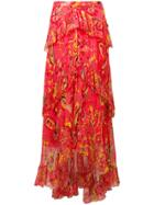 Etro Floral-print Skirt - Red