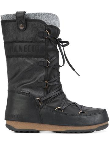 Moon Boot 'we Monaco Mix' Boots - Black