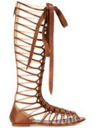 Casadei Knee-length Strappy Daytime Sandals - Brown