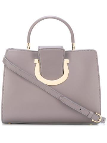 Salvatore Ferragamo - Thea Tote Bag - Women - Calf Leather - One Size, Grey, Calf Leather