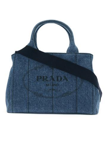 Prada Denim 2way Bag - Blue