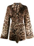 Dolce & Gabbana Leopard Print Pajama Shirt - Brown