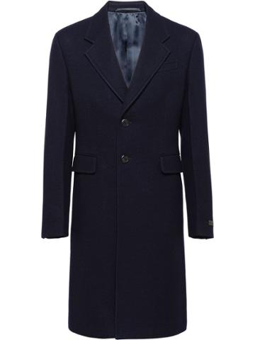 Prada Wool Cloth Coat - Blue