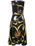 Marni Printed Sleeveless Midi Dress - Black