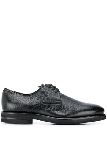 Henderson Baracco Textured Lace Up Oxford Shoes - Black