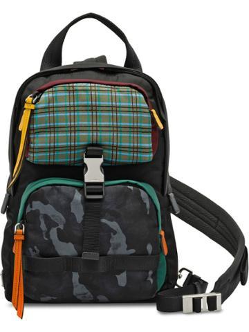 Prada Colour-block Backpack - Blue