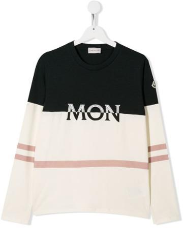 Moncler Kids Teen Logo Sweatshirt - White
