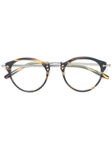 Oliver Peoples Turtle Print Glasses, Brown, Acetate/metal