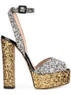 Giuseppe Zanotti Design Lavinia Glitter Sandals - Metallic