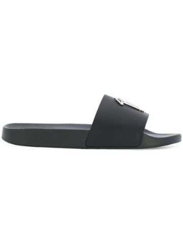 Giuseppe Zanotti Design Brett Slider Sandals - Black