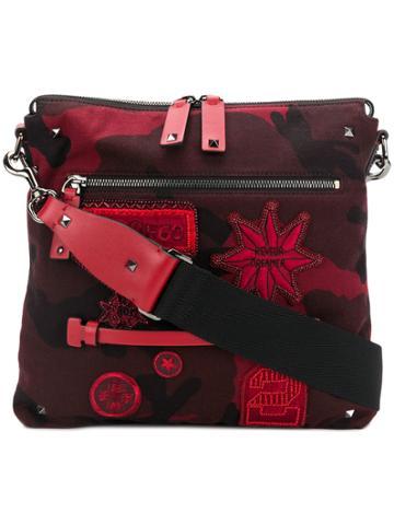 Valentino Valentino Garavani Rockstud Badge Embellished Messenger Bag