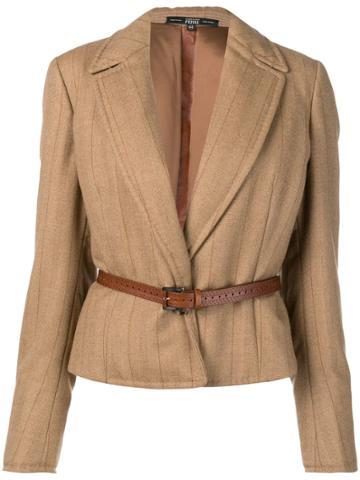 Gianfranco Ferre Vintage 1990 Striped Jacket - Neutrals
