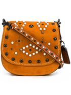 Coach Embellished Saddle Bag