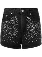 Chiara Ferragni Studded Denim Shorts - Black