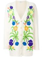 Saint Laurent Floral Embroidered Cardigan