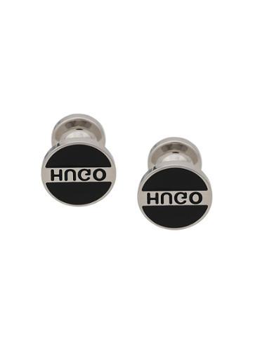 Hugo Hugo Boss Enamelled Logo Cufflinks - Black