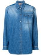 No21 Washed Denim Shirt - Blue