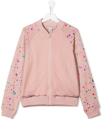 Stella Mccartney Kids Teen Speckled Bomber Jacket - Pink