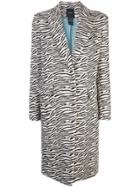 Smythe Zebra Print Single Breasted Coat - White