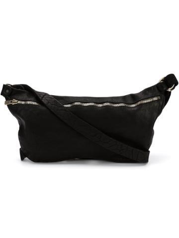 Guidi Small Zip Cross Body Bag - Black