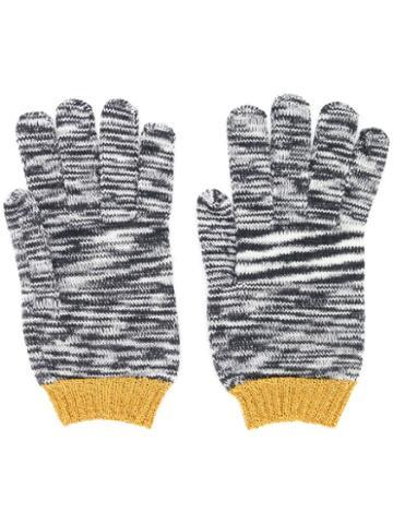 Missoni Ribbed Gloves - Grey