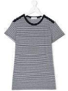 Les Coyotes De Paris Striped T-shirt - White