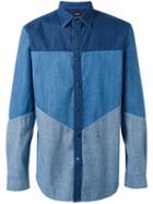 Diesel - Panelled Denim Shirt - Men - Cotton - Xl, Blue, Cotton