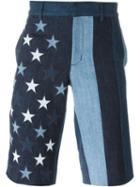 Givenchy Star Patch Denim Shorts
