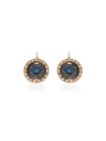 Ileana Makri 18k Yellow Gold Eye Diamond Earrings - Metallic