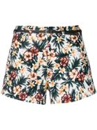 Loveless Floral Belted Shorts - Multicolour