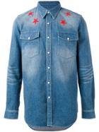 Givenchy Denim Star Embroidered Shirt - Blue
