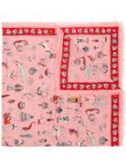 Alexander Mcqueen Patterned Scarf - Pink