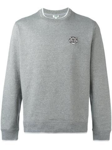 Kenzo Badge Sweatshirt, Men's, Size: Small, Grey, Cotton
