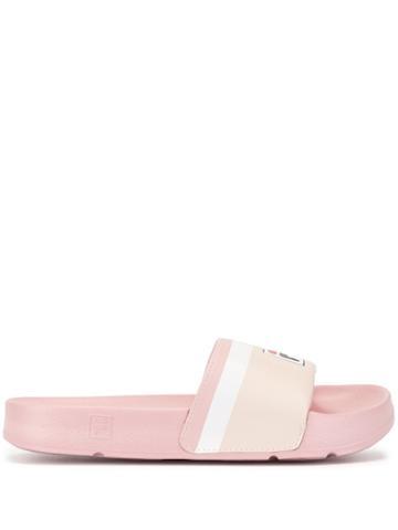 Fila Printed Logo Slides - Pink