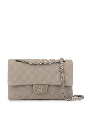 Chanel Pre-owned Double Flap Chain Shoulder Bag - Grey
